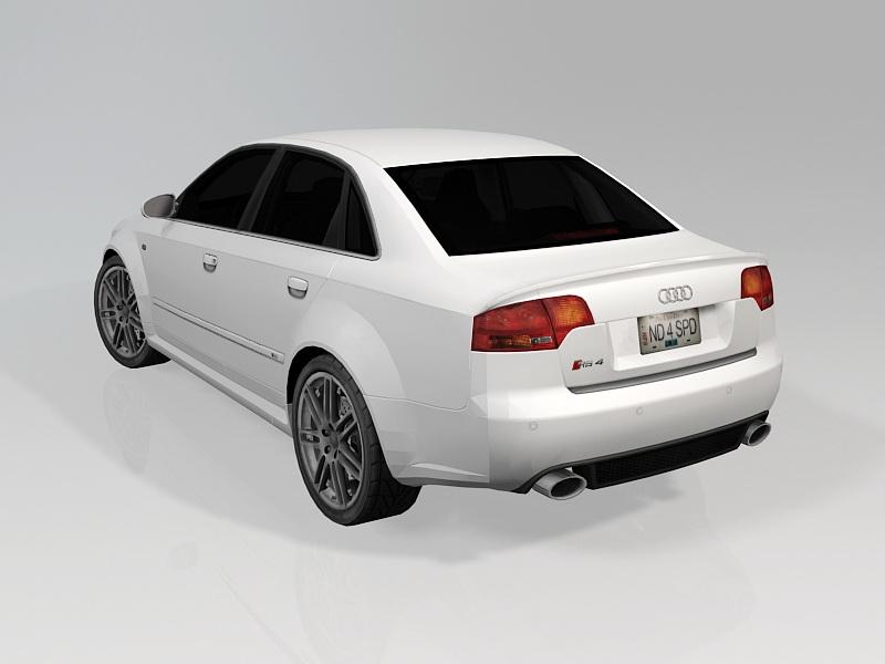 Audi B7 RS4 3d rendering