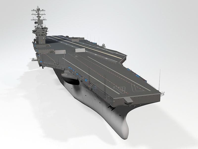 USS John Stennis Aircraft Carrier 3d rendering
