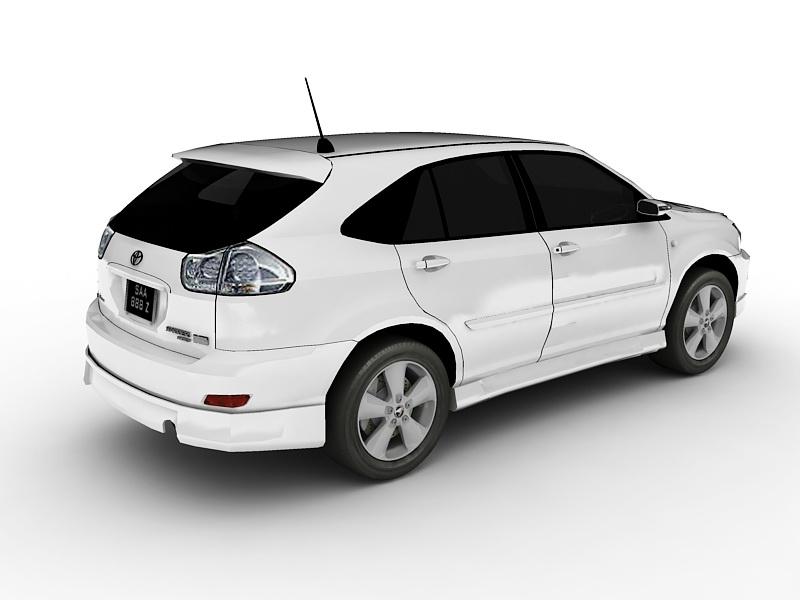 Toyota Harrier Hybrid 3d rendering