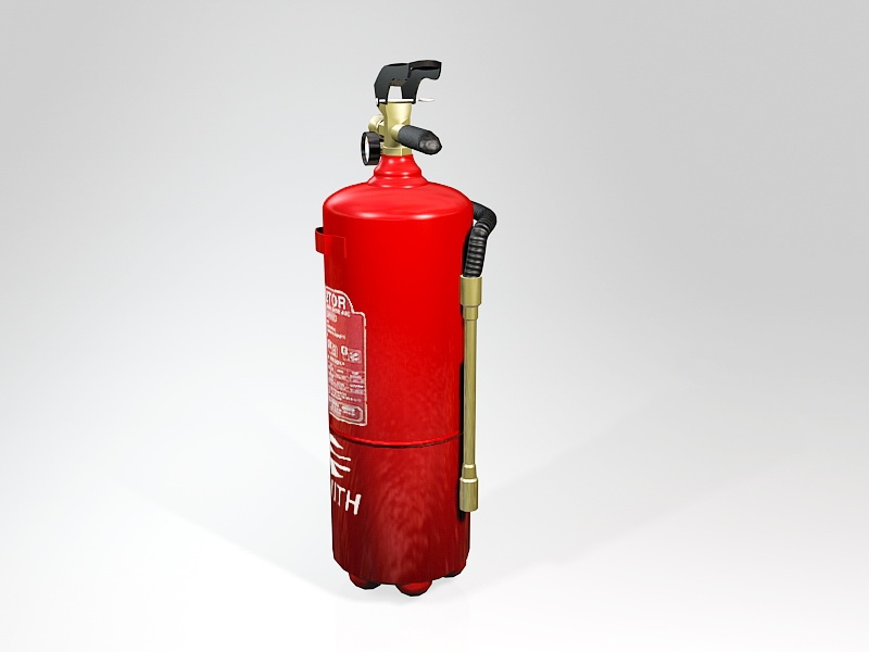 Industrial Fire Extinguisher 3d rendering