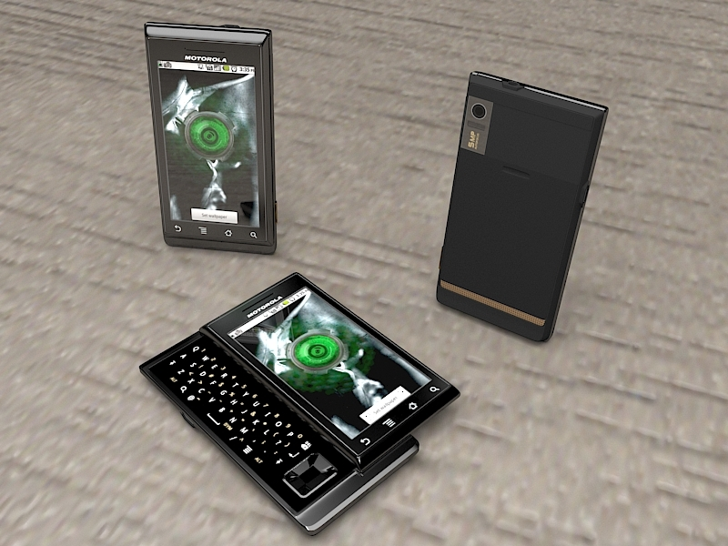Motorola Milestone XT720 Smartphone 3d rendering