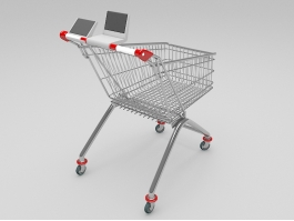 Wire Shopping Cart 3d model preview