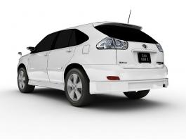 Toyota Harrier Hybrid 3d model preview