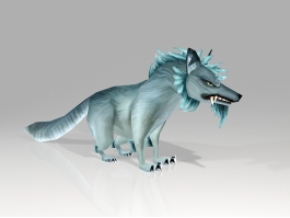 Scary Wolf Cartoon 3d preview