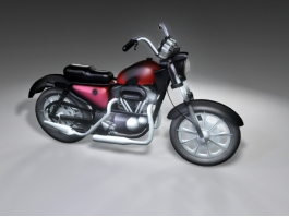 Red and Black Motorcycle 3d preview