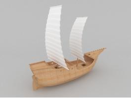 Ancient Merchant Ship 3d preview