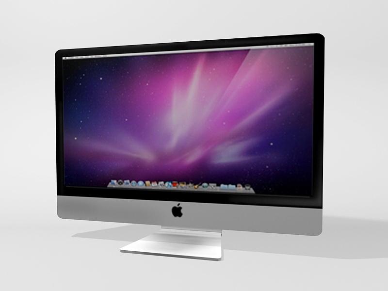 Apple Computer Monitor 3d rendering