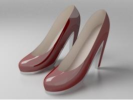 High Heels Platforms Shoes 3d preview