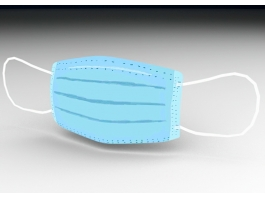 Surgical Face Mask 3d preview