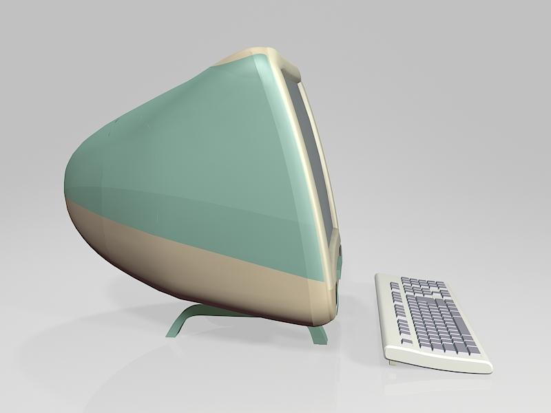 Old iMac Computer 3d rendering