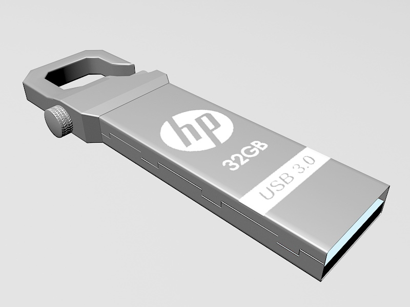 Hp USB Flash Drive 3d rendering