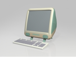 Old iMac Computer 3d preview