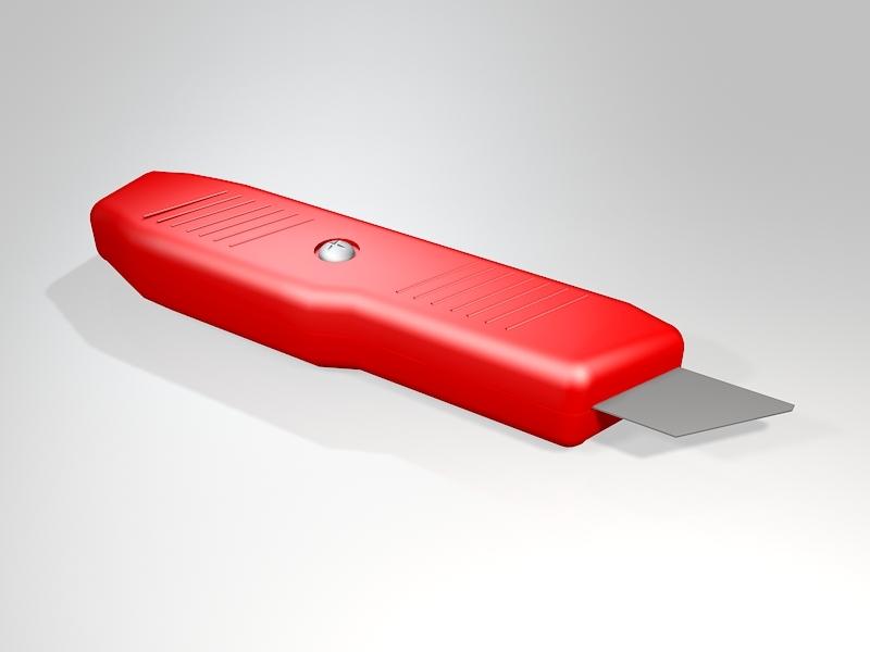 Box Cutter Utility Knife 3d rendering