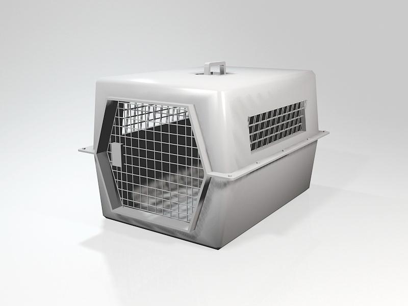 Plastic Pet Carrier 3d rendering