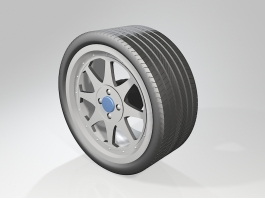 Car Rim with Tire 3d preview
