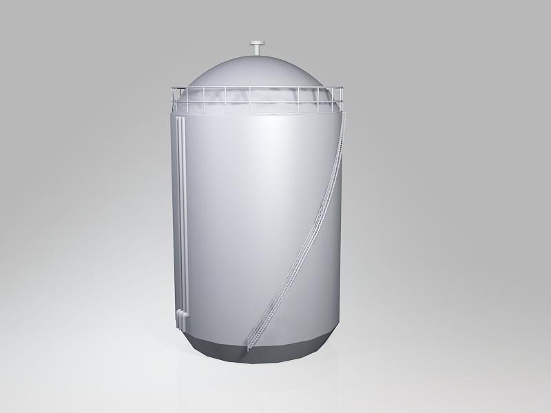Large Oil Storage Tank 3d rendering