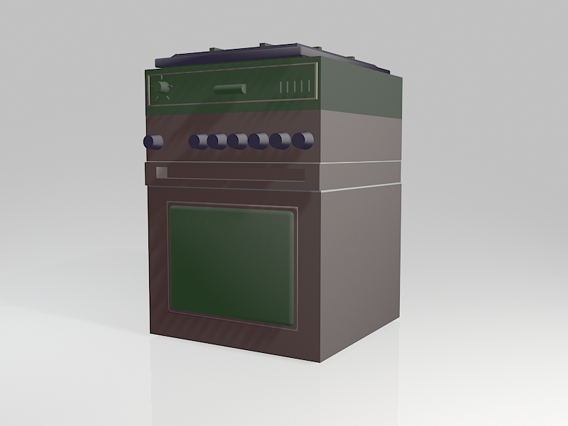Gas Stove Oven 3d rendering