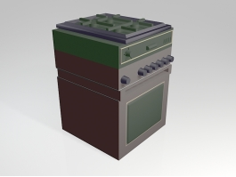 Gas Stove Oven 3d preview