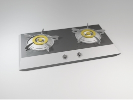 Gas Stove Cooktop 3d preview