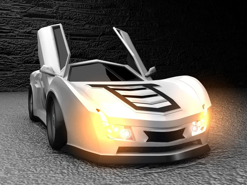 Coolest Concept Car 3d rendering
