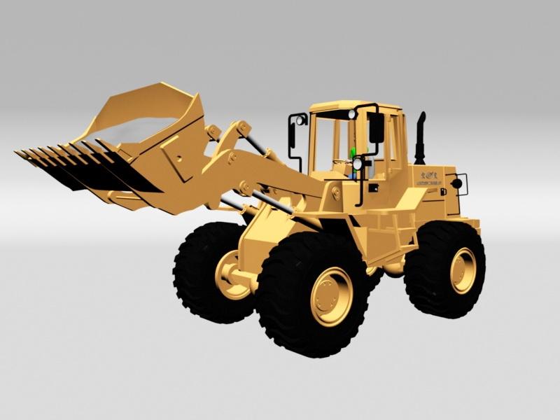 Earth Scraper Machine 3d rendering