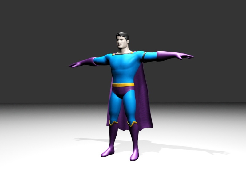 Classic Superman 3d rendering