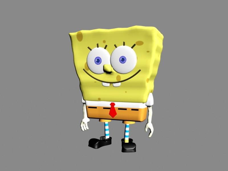 Spongebob Character 3d rendering
