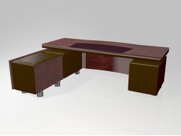 Executive Office Furniture 3d model preview