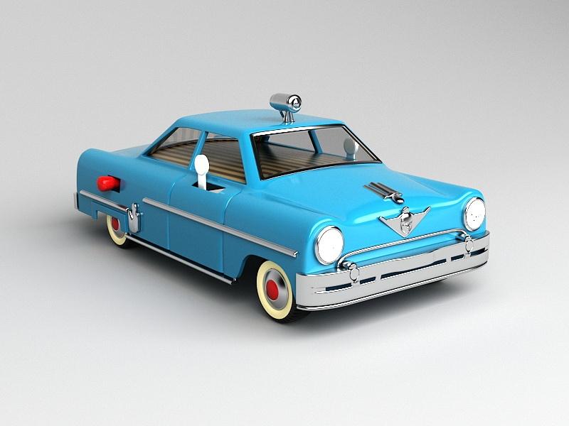 Cartoon Taxi Cab 3d rendering