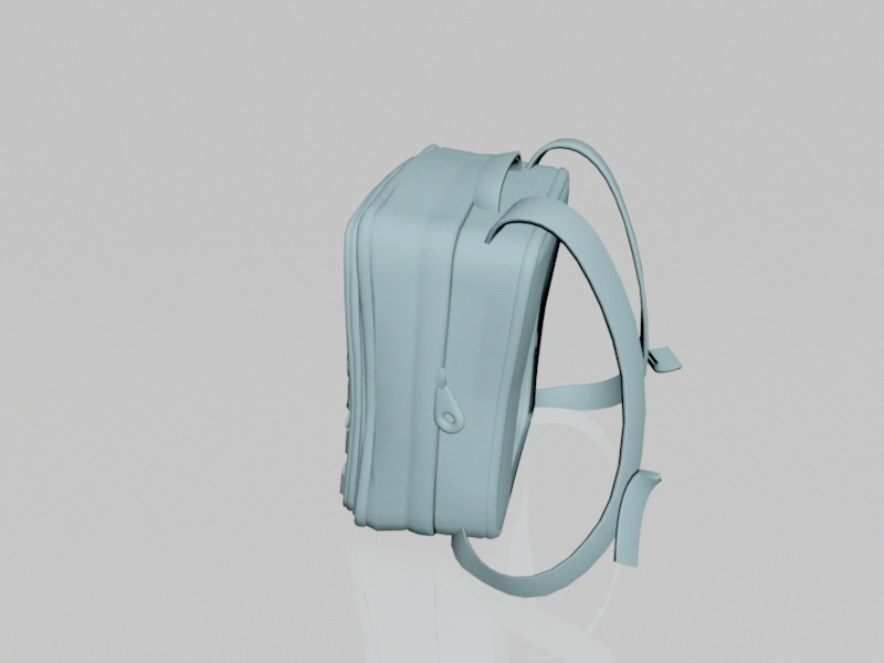 College Backpack 3d rendering