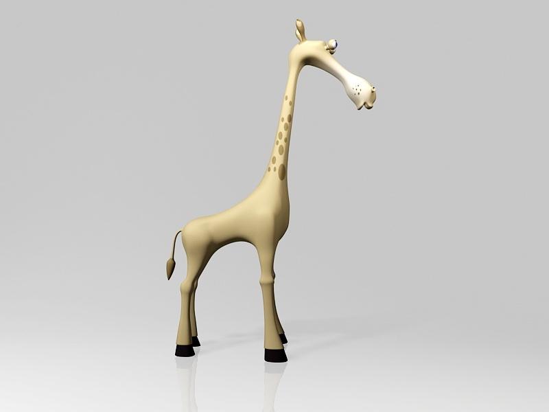 Cute Cartoon Giraffe 3d rendering