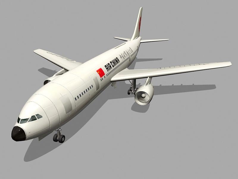 Air China Aircraft 3d rendering