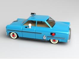 Cartoon Taxi Cab 3d preview