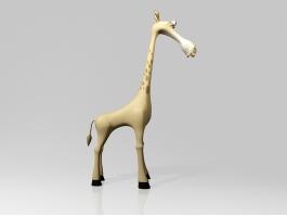 Cute Cartoon Giraffe 3d preview