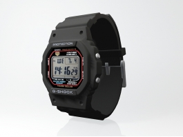 Black G-Shock Watch 3d preview