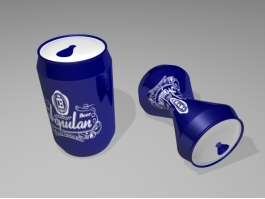 Blue Beer Can 3d preview