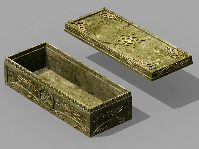 Stone Coffin Sarcophagus 3d rendering