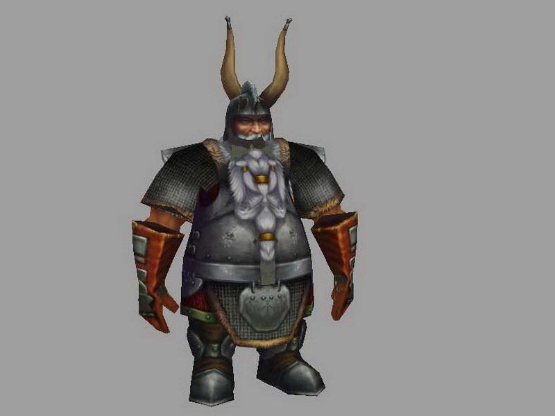 Dwarf Warrior Concept Art 3d rendering