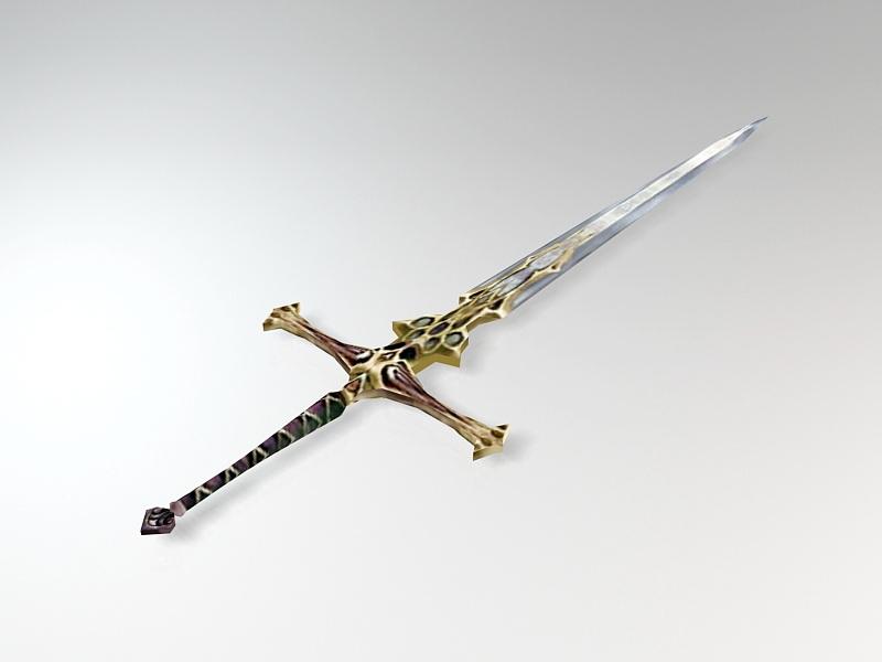 Undead Great Sword 3d rendering