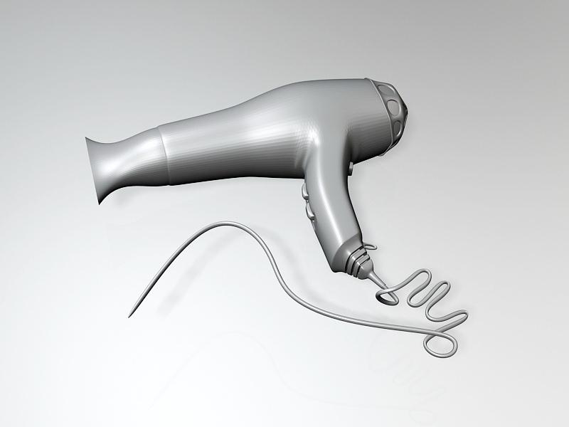 Home Hair Dryer 3d rendering