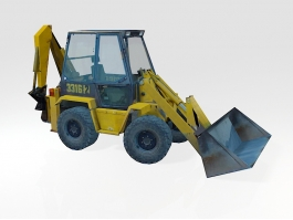 Low Poly Bulldozer 3d preview