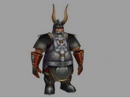 Dwarf Warrior Concept Art 3d preview