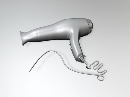 Home Hair Dryer 3d preview
