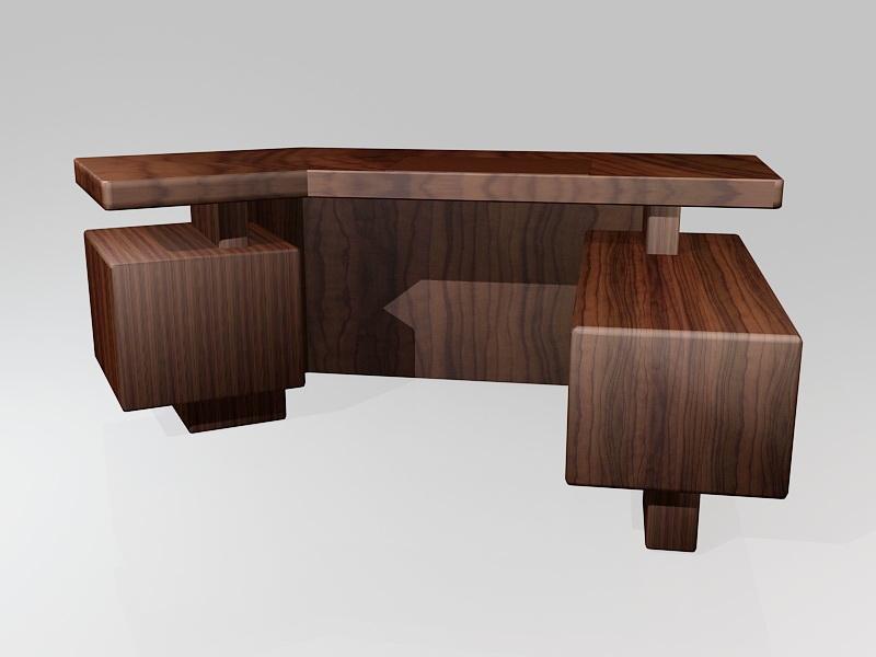 Executive Office Desk 3d rendering