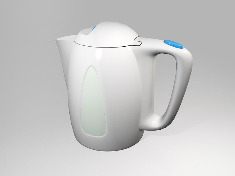 Boiling Water Kettle 3d rendering