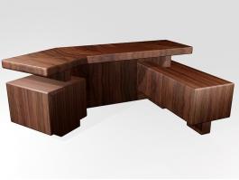 Executive Office Desk 3d preview