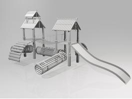 Park Playground Slide 3d preview