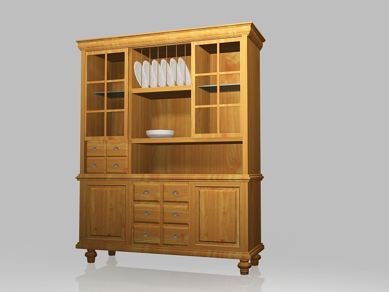 Country Kitchen Cupboard 3d rendering