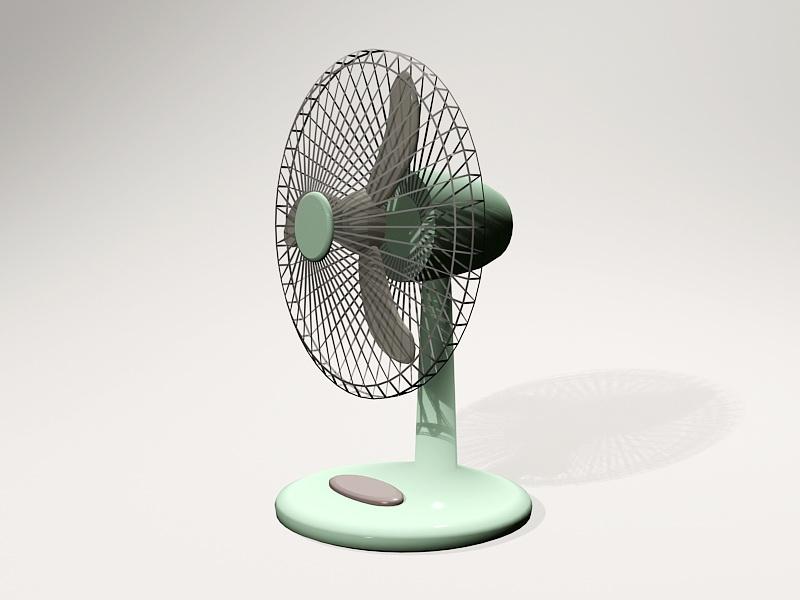 Retro Desk Fan 3d rendering