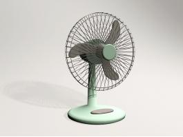 Retro Desk Fan 3d model preview